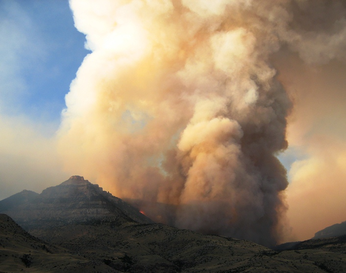 Fire east of Cody, Wyoming September 4, 2008
