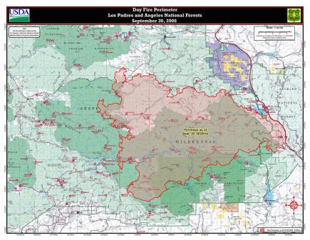 Day Fire map