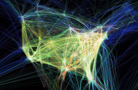 Air Traffic Animation Wildfire Today - Us air traffic map