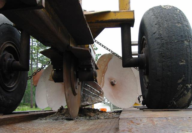 Tractor plow up close