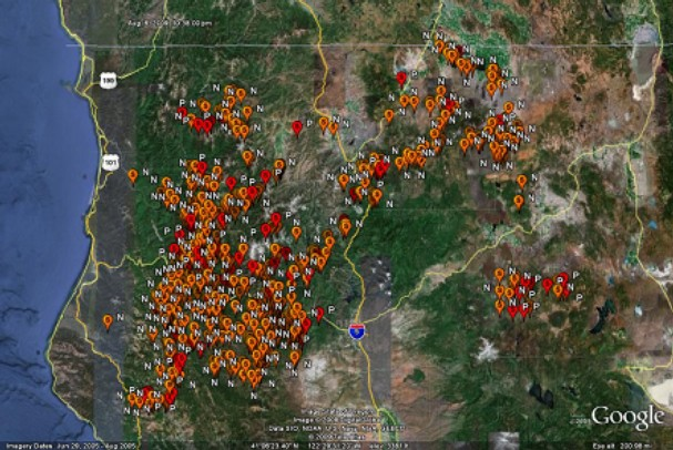 Lightning Hammers Northern California Wildfire Today