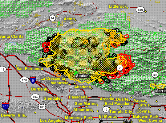 Slowed By Weather The Station Fire Still Grows By 19 000 Acres