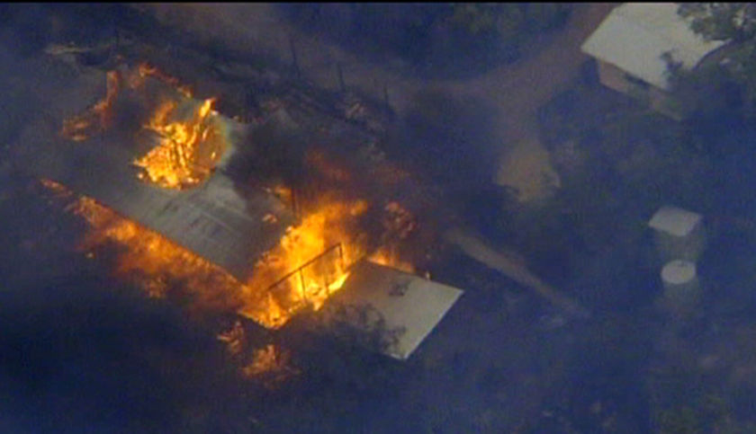 There are reports that eight homes have been destroyed.