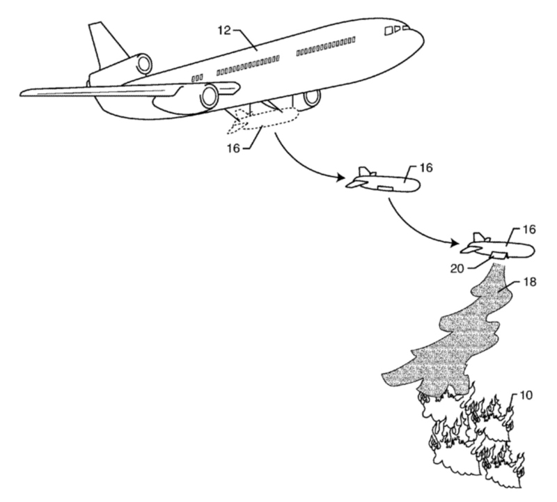 Patent application disposable air tanker