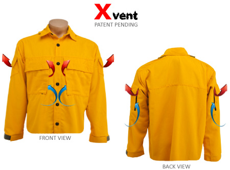 Xvent wildland firefighter shirt