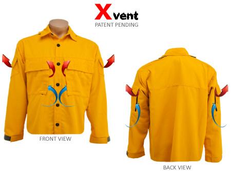 Xvent wildland firefighter shirt