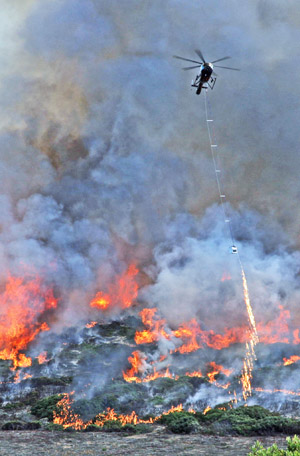 Fort Ord prescribed fire helitorch