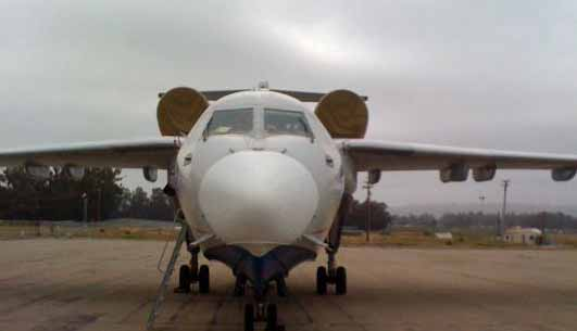 BE-200 air tanker at Santa Maria, California