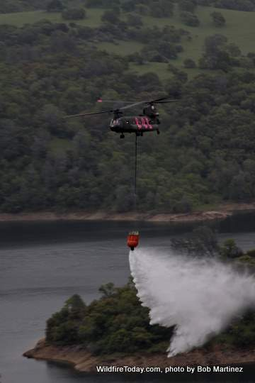Military helicopter fire training