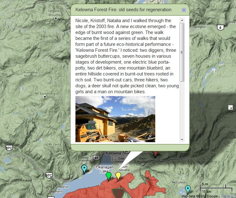Interactive wildfire history map