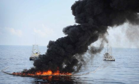 oil spill controlled burn