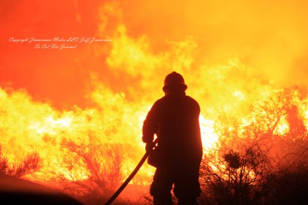 southern california brush fire