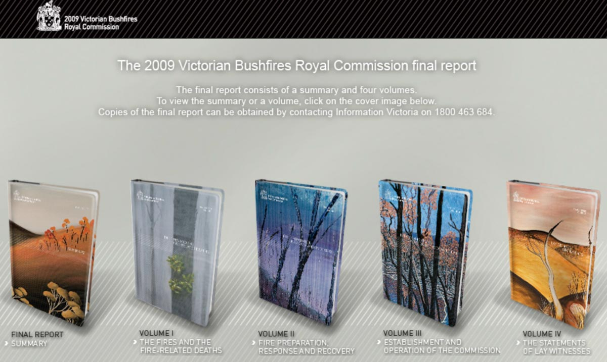2009 Royal Commission Australia Bushfires