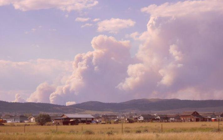 Davis fire near Helena and Lincoln