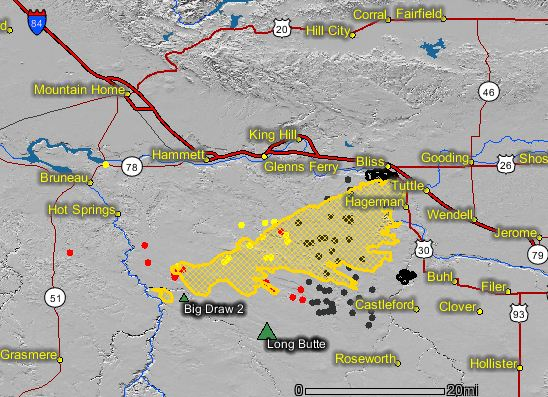 Long Butte fire map
