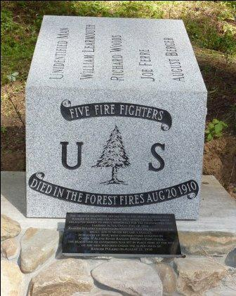 Monument 1910 fires for Ranger Pulaskis crew
