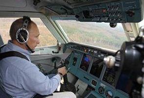 Putin in the copilot's seat