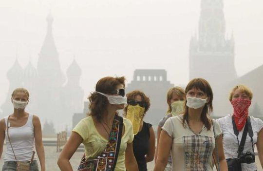 smoke from fires Russia