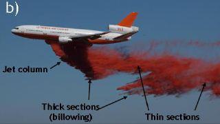 DC-10 retardant billowing