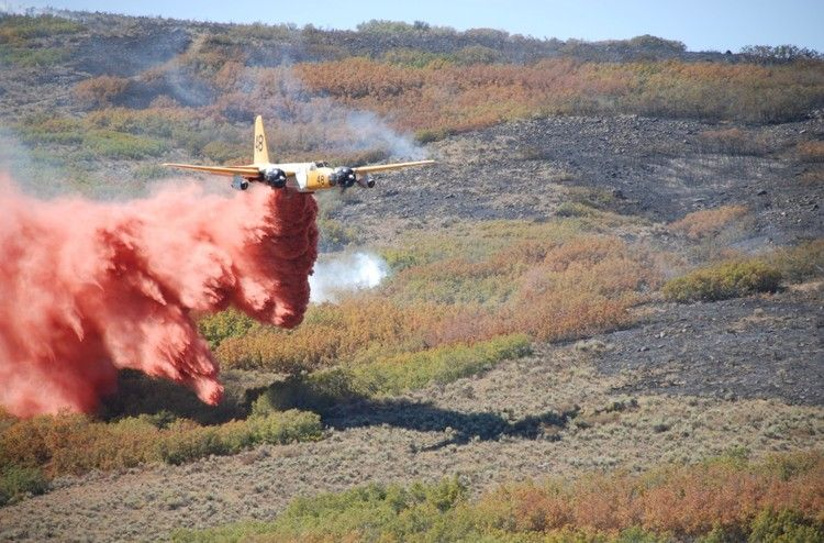 air tanker on Machine Gun fire near Herriman Utah