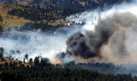 Fourmile fire near Boulder
