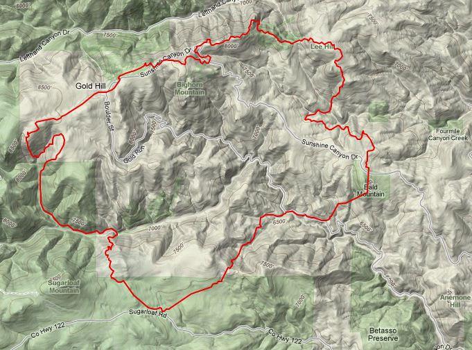 Fourmile fire map