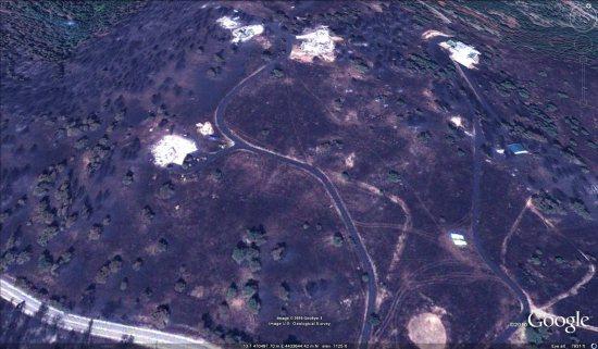 Fourmile fire satellite photo