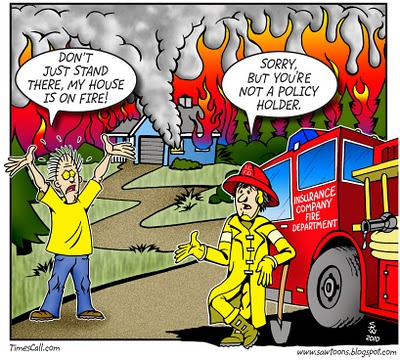 wildfire cartoon chubb insurance comany engines