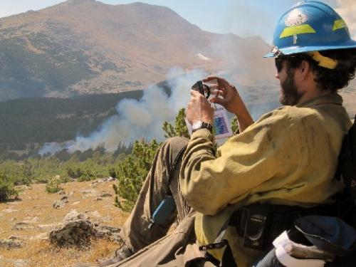 Cow Creek Fire Ed Waldron monitor
