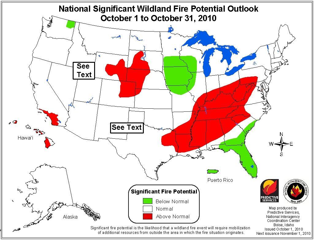 wildfire outlook october 2010
