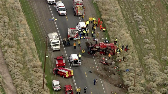 California Inmate Crew Carrier Involved In Head On Crash