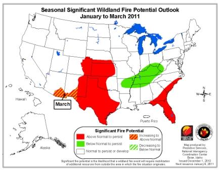 wildfire Outlook January-March 2010