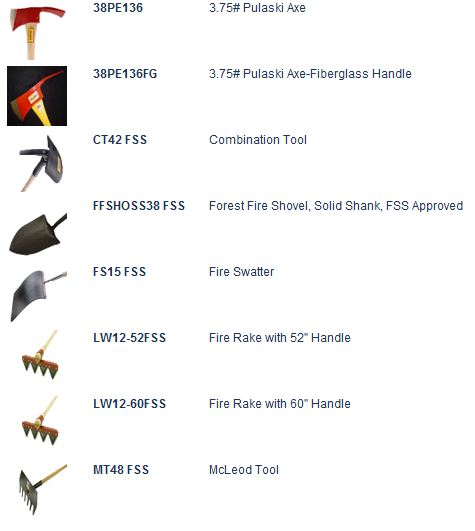 hand tool names. council tools wildfire products hand tool names i