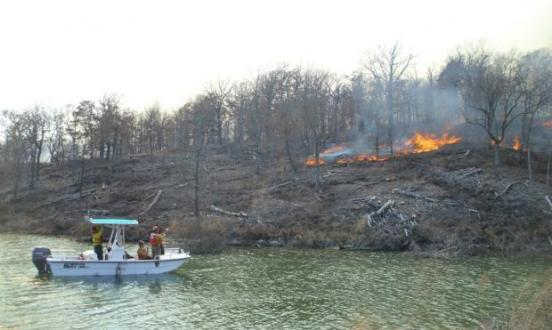 Chickasaw National Recreation Area prescribed fire