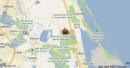 Florida Wildfire Closed I And US Wildfire Today - Us map i 95