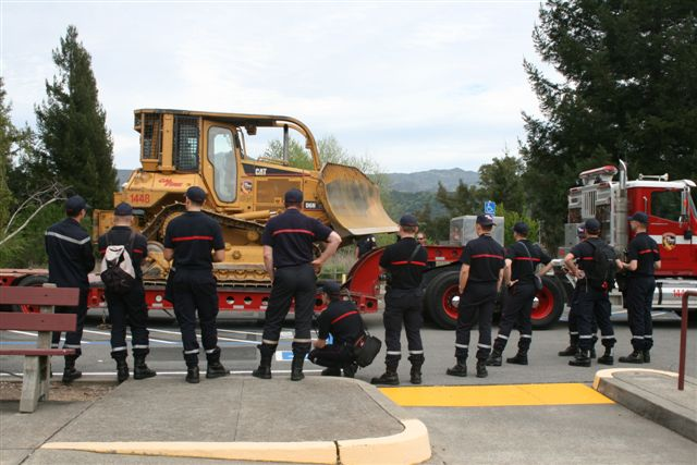 french firefighters visit cal fire in northern california