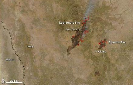 Texas fire watch map