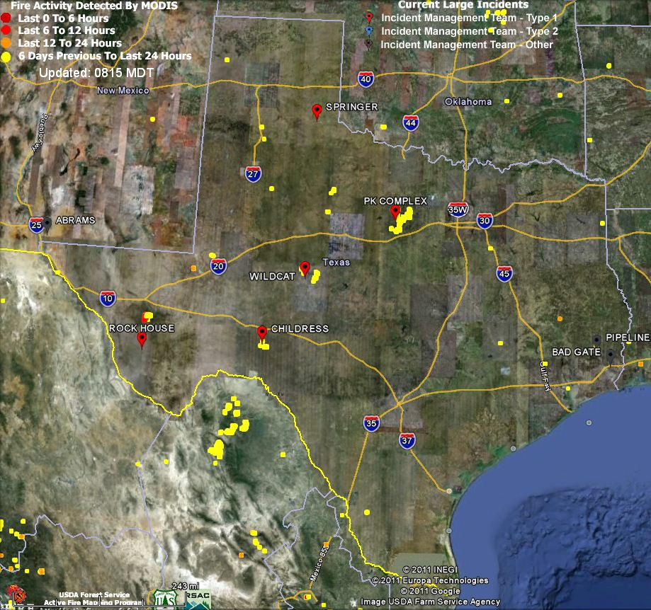 Texas Fire Map 4 24 2011 Wildfire Today