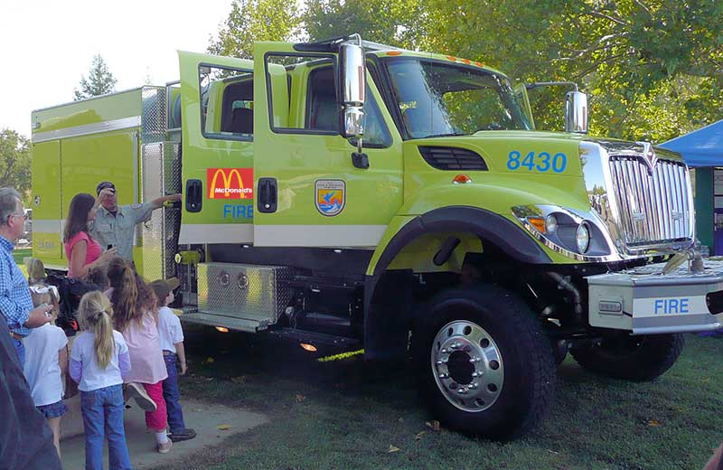 U.S. Fish and Wildlife Service engine with McDonald's ad