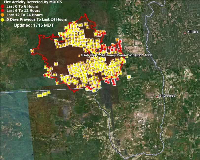 Map Of Georgia Fire.Map Honey Prairie Fire 1800 May 10 Wildfire Today