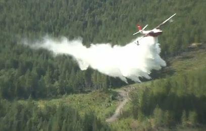 Martin Mars air tanker practice drop