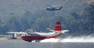 Martin Mars and Firewatch 76 at Lake Elsinore, California