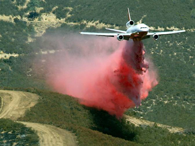 DC-10 dropping, file photo
