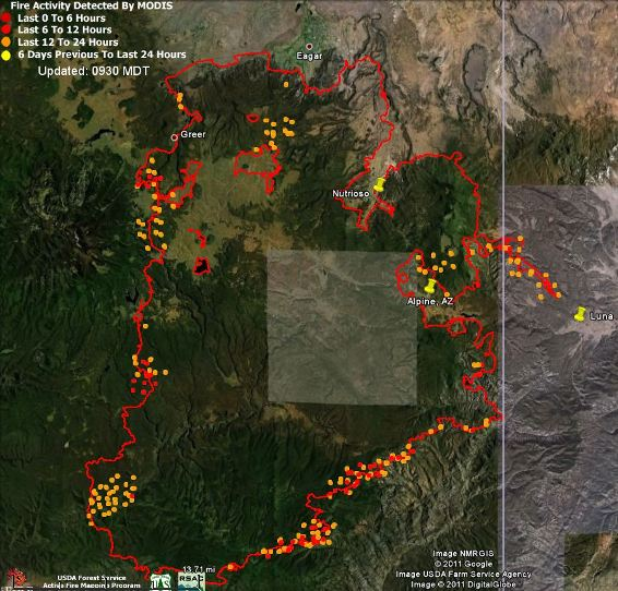 Map of Wallow, data 0300 6-12-2011