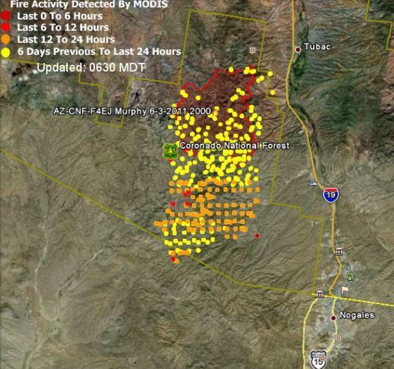 Murphy fire map - 0234 6-7-2011
