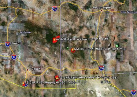 Vicinity map, AZ and NM - Wildfire Today