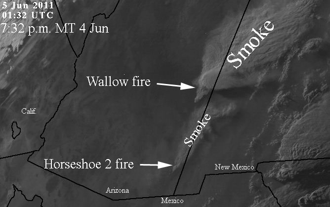 Wallow fire update, 9:30 p.m. June 4