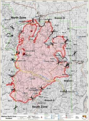 Wallow fire briefing map 6-9-2011