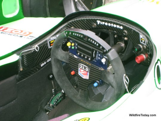 The cockpit of Danica Patrick's car