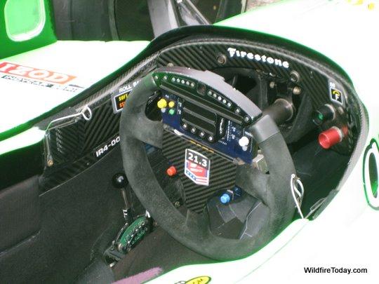 The cockpit of Danica Patrick's car